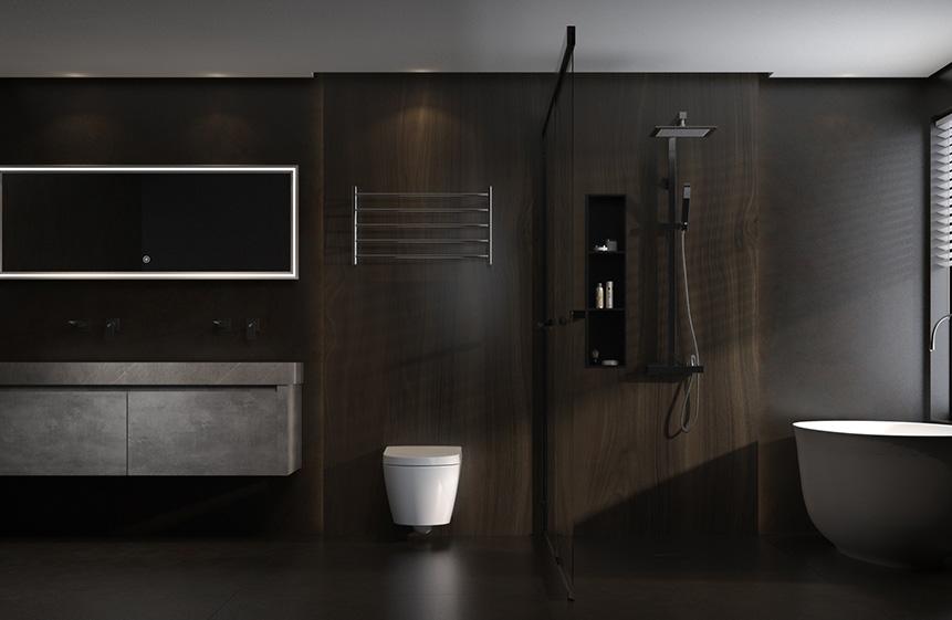 7.98㎡/#G1942213深色系卫浴空间,简约而充满质感