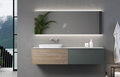 朵纳卫浴 Fontana 丰塔纳 岩板浴室柜